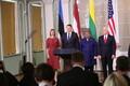 Пресс-конференция вице-президента США и глав стран Балтии.