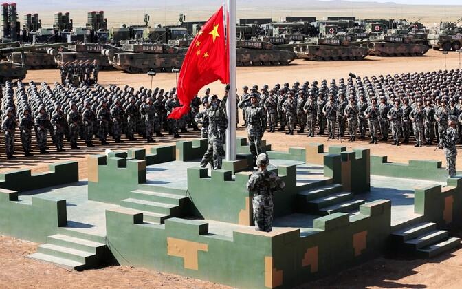 Китайский военный парад во Внутренней Монголии 30.07.2017.