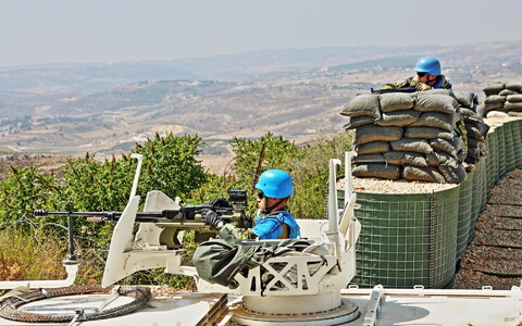 ESTPLA-23 peacekeepers practice defending base in Lebanon. July 30-31, 2017.