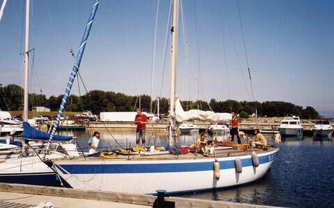 Яхта Kalev.