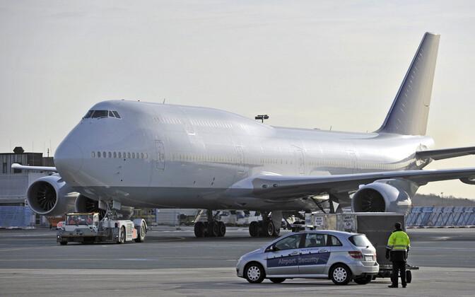 Boeing 747-8 Frankfurdi lennujaamas.