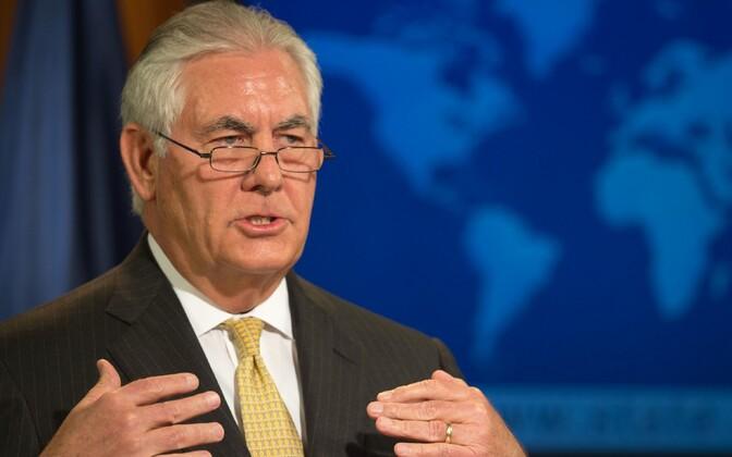 USA välisminister Rex Tillerson 1. augustil pressibriifingul.
