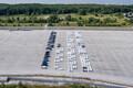 Пустые парковки со статусом автомобильного таможенного склада у Северного порта Палдиски.