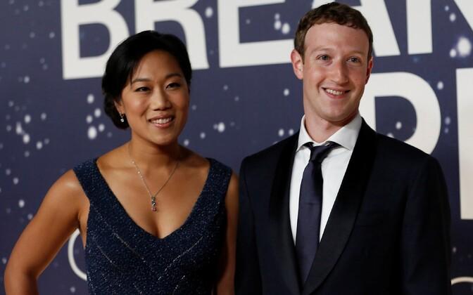 Priscilla Chan ja Mark Zuckerberg.
