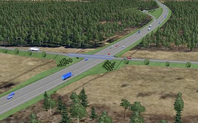 Tallinna-Tartu maantee Kose-Ardu teelõik.