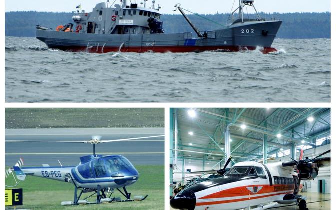 Enampakkumisele minevad politsei- ja piirivalveameti laev  ja õhusõidukid.