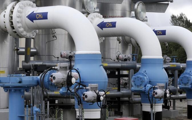Gaasitorud Lätis Inčukalnsi maagaasihoidlas.