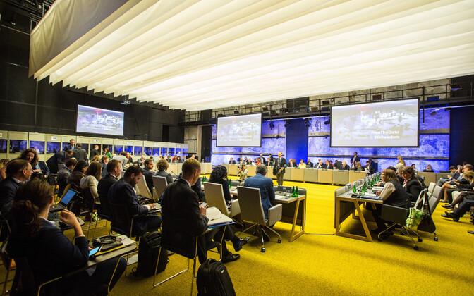 An event of the Estonian EU presidency taking place at Tallinn Creative Hub in July.