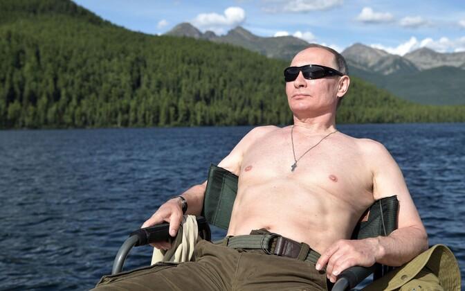 Владимир Путин отдыхал в южной Сибири.