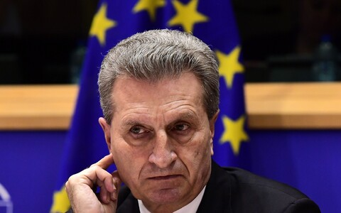 Euroopa Komisjoni eelarve ja personali volinik Günther Oettinger.