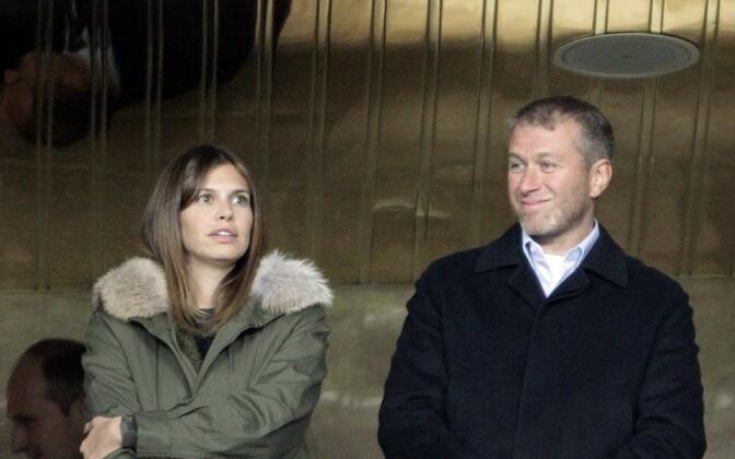 Дарья Жукова и Роман Абрамович.