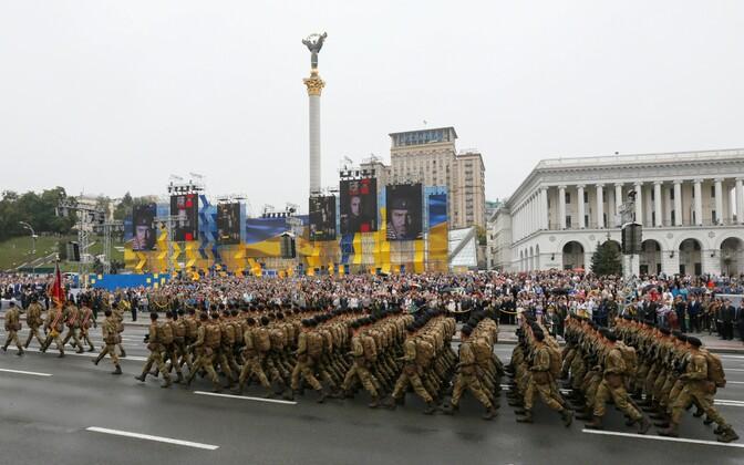 ВКиеве состоялась 3-я тренировка парада коДню Независимости