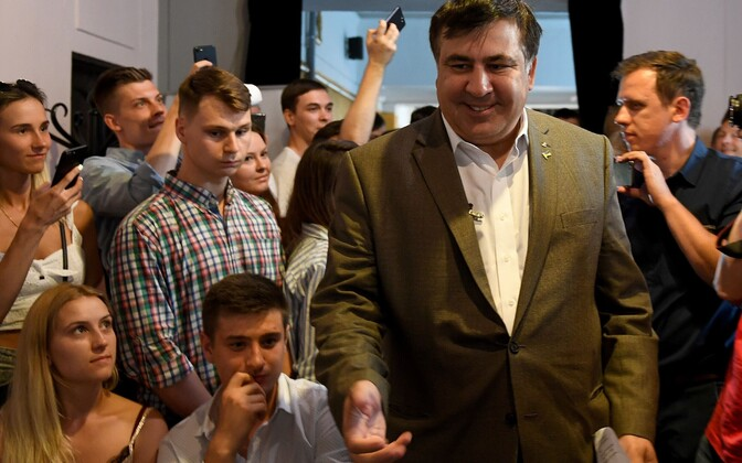 Встреча Михаила Саакашвили с гражданами Украины в Варшаве.
