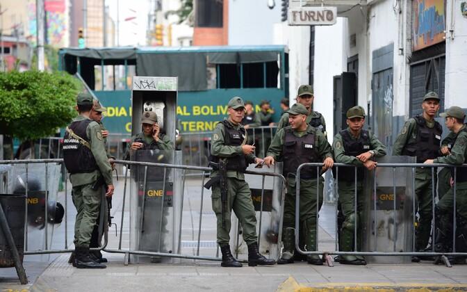 Venezuela rahvuskaartlased pealinn Caracases.
