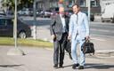 Предприниматель Айвар Туулберг и его адвокат Индрек Леппик.