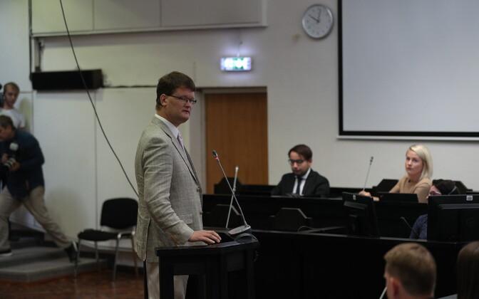 Priit Kutser in court.