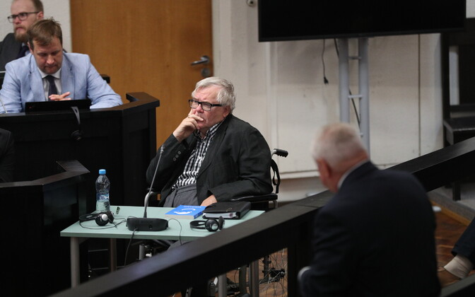 Edgar Savisaar in court on Wednesday. Aug. 9, 2017.