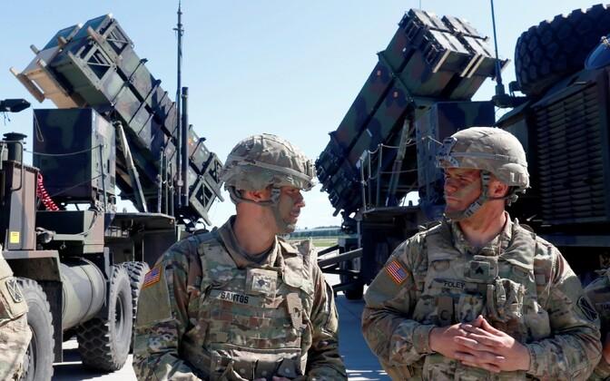 USA sõdurid ja raketisüsteemid Patriot 2017. aasta juulis Leedus Šiauliais.