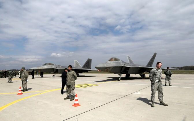 Военная авиабаза в Шауляе.