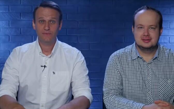 Vene võimuringkondade korruptsiooniga võitlevad  Aleksei Navalnõi ja Georgi Alburov.