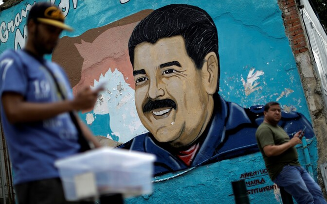 President Nicolas Maduro pilt Caracases.