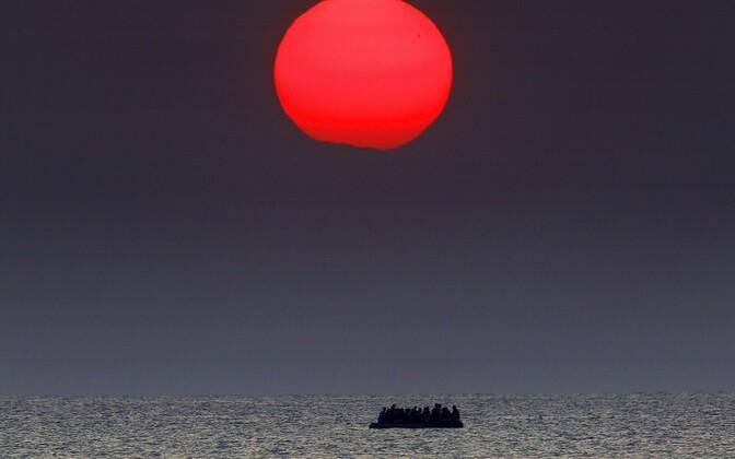 Migrantide paat merel, arhiivifoto.