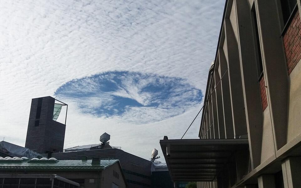 Lõuna-Soome taevas nähtav pilvelumestus.