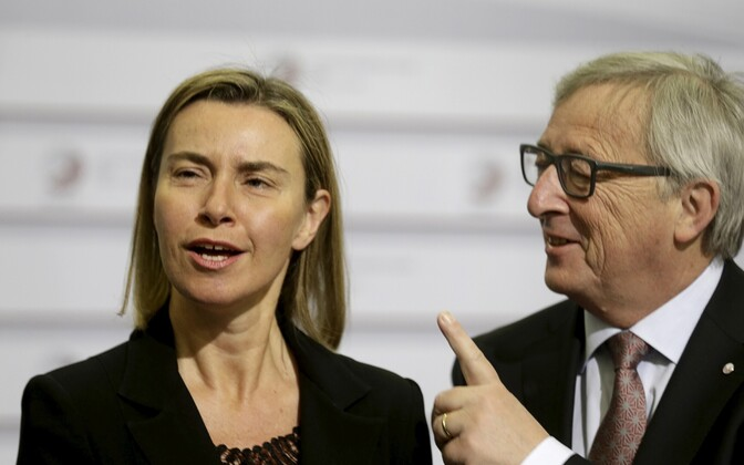 Federica Mogherini ja Jean-Claude Juncker.