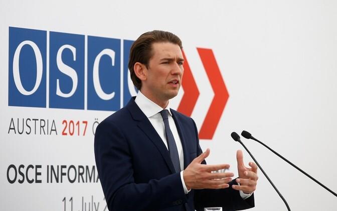 Глава МИД Австрии и действующий председатель ОБСЕ Себастьян Курц.