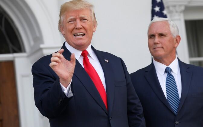 USA president Donald Trump ja asepresident Mike Pence New Jersey's 10 augustil.