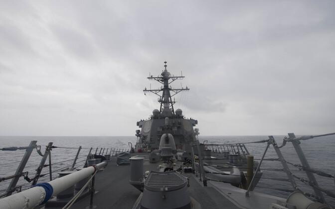 USA mereväe foto hävitajast USS John S. McCain Lõuna-Hiina merel.