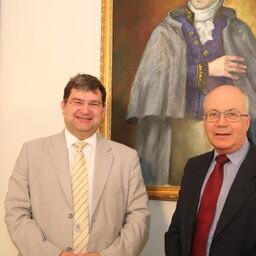 Professor Paul Giangrande ja Tartu ülikooli dotsent Edward Laane
