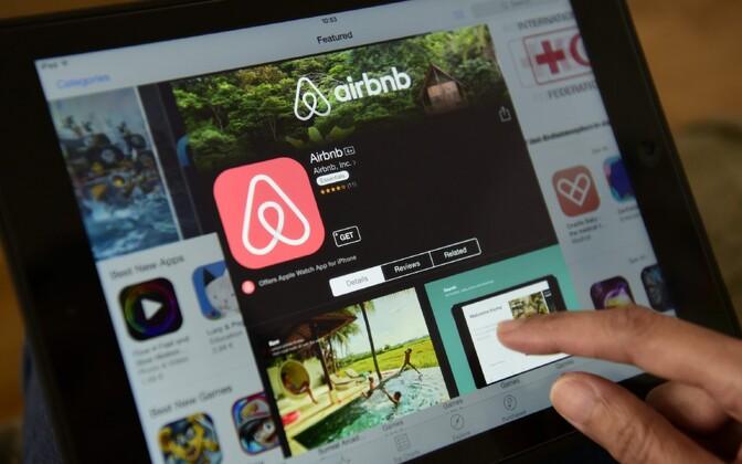 Airbnb veebileht.