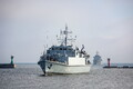 Standing NATO Mine Countermeasures Group 1 (SNMCMG1) arrives in Tallinn on Friday. Aug. 11, 2017.