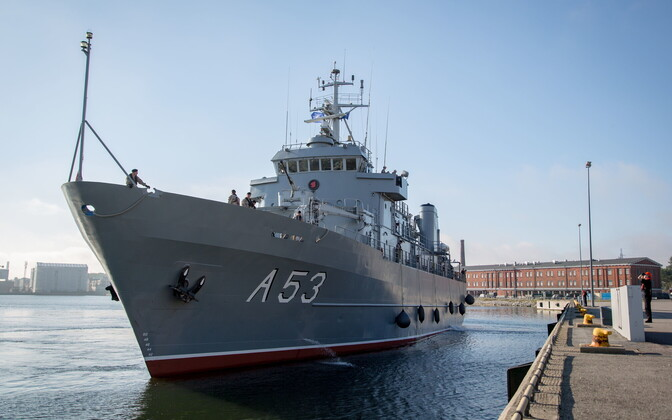 Ship of the Standing NATO Mine Countermeasures Group 1 (SNMCMG1) in Tallinn.