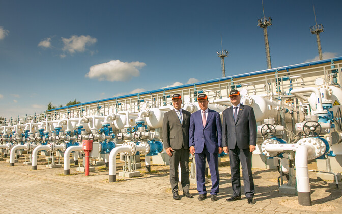 Prime Ministers Jüri Ratas, Māris Kučinskis and Saulius Skvernelis of Estonia, Latvia and Lithuania visiting Inčukalns Underground Gas Storage Facility in Latvia on Friday. Aug. 11, 2017.