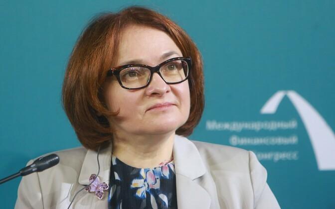 Venemaa keskpanga juht Elvira Nabiullina.