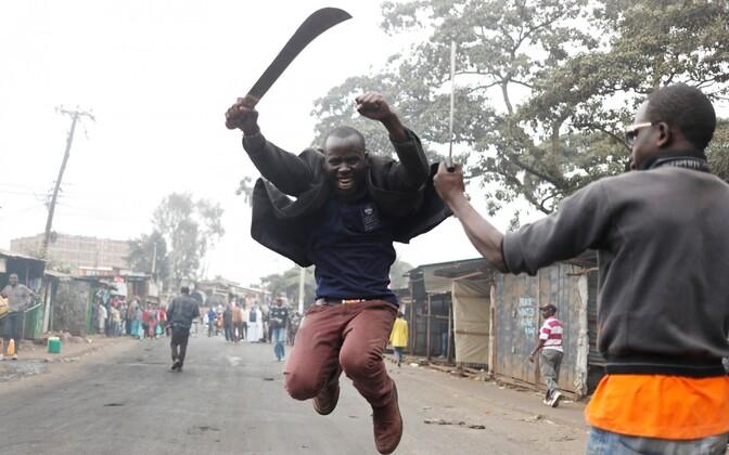 Valimisjärgsed rahutused Nairobi Kibera slummis.