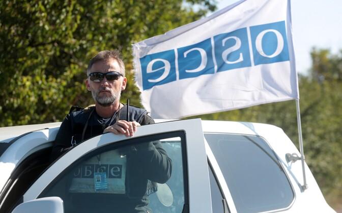 OSCE vaatleja Donbassis, arhiivifoto.