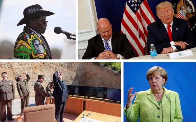 Robert Mugabe, McMaster ja Trump, Kim Jong-un ja Angela Merkel.