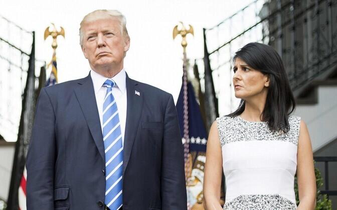 Donald Trump ja USA suursaadik ÜROs Nikki Haley.