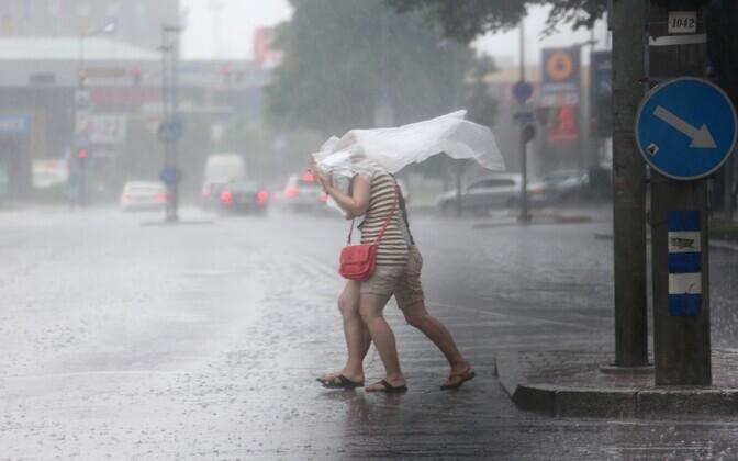Vihmasadu Tallinnas.