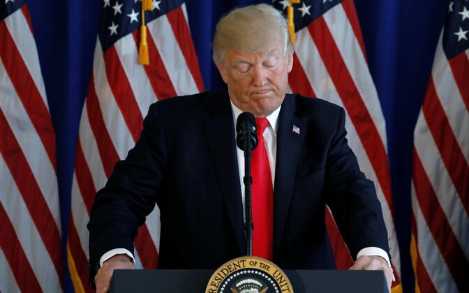 President Trump tegemas avaldust Charlottesville'i teemal.