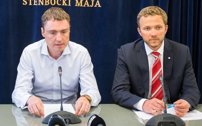 Таави Рыйвас и Маргус Цахкна в 2015 году.
