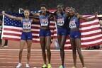 Американки праздновали победу в эстафете 4х400 метров