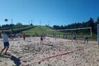 Новая волейбольная площадка в Кейла