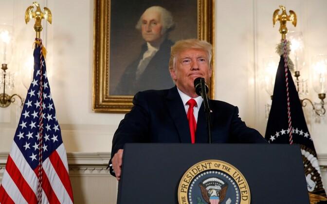 USA president Donald Trump 14. augustil Charlottesville'i juhtumit puudutavat avaldust tegemas.