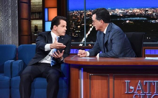 Anthony Scaramucci Stephen Colberti saates.