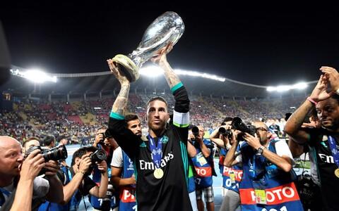 Madridi Reali kapten Sergio Ramos 2017. aasta UEFA superkarikaga