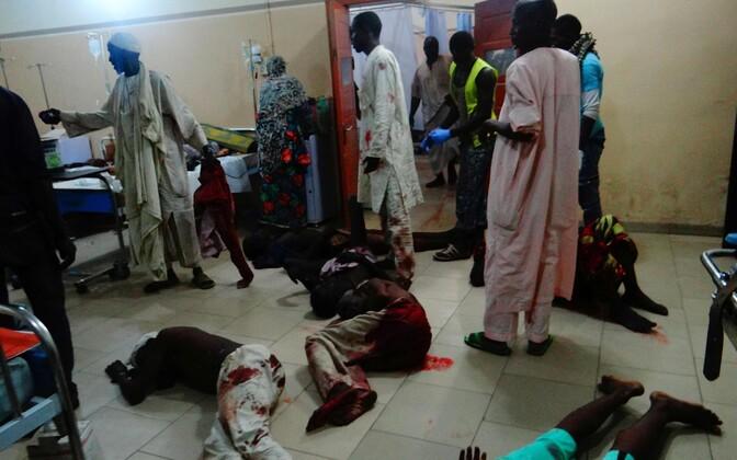 15. augusti terrorirünnaku ohvrid Maiduguri haiglas.